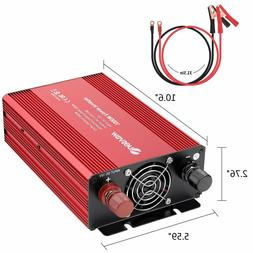 Quesvow 1000W Car Power Inverter DC 12V to 110V 3 AC Outlets