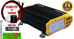 KRIËGER 1100 Watt 12V Power Inverter - Dual 110V AC outlets