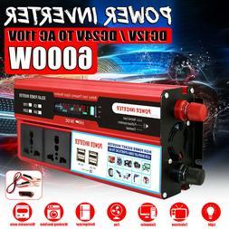 12/24V to 110V 6000W Power Inverter Modified Sine Wave Digit