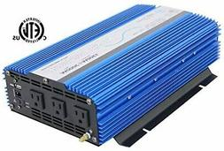 AIMS Power 1500 Watt Pure Sine Inverter 12Vdc ETL Listed to