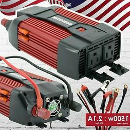Audiotek 1500W Watt Power Inverter DC 12V AC 110V Car Conver
