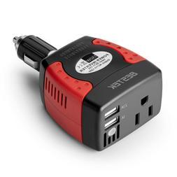 BESTEK 150W Car Power Inverter DC 12V to AC 110V 2 USB Short