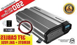 KRIËGER 2000 Watt 24V Power Inverter - Dual 110V AC outlets