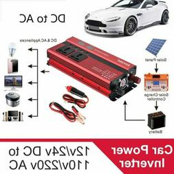 2000W- 5000W Portable Car LED Power Inverter WATT DC 12V to