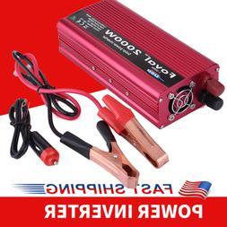 2000W Car Power Inverter DC 12V to AC 110V Converter W/ Dual