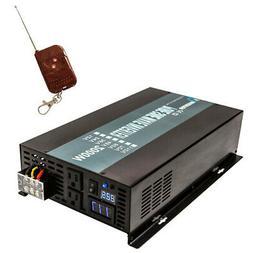 2000W Pure Sine Wave Inverter 24V 120V Off Grid Remote Switc
