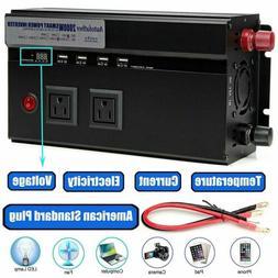 Audiotek 2000W Watt Power Inverter DC 12V AC 110V Car Conver