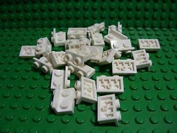 ** 25 CT LOT ** Lego NEW white 1 x 2 bracket pieces