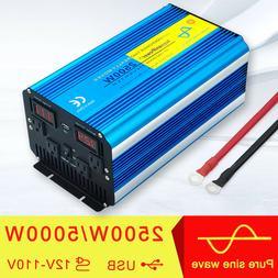 5000W 5000 Watt Power Inverter Pure Sine Wave 12V dc to 110V