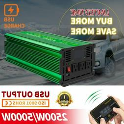 Renoster 2500W Peak 5000W Pure Sine Wave Power Inverter DC 1