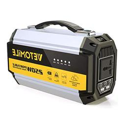 VETOMILE 250Wh Portable Generator Solar Power Station with P