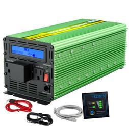 EDECOA Power Inverter 3000 Watt 6000W 12V DC to 110 V 120V A