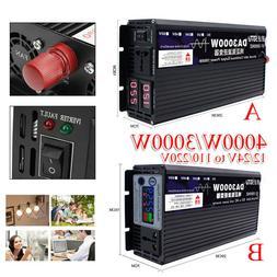 3000W/4000W Peak Pure Sine Wave Power Inverter DC12/24V To A