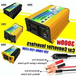 3000W-6000W Sine Wave Converter DC 12V to AC 110V/220V Car S
