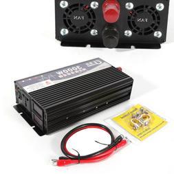 3000W Pure Sine Wave Inverter 12V/24V to 110V Car Power Conv