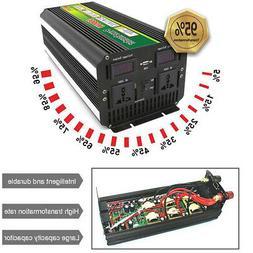 3000Watt 6000W LCD 24V to 220V Power Inverter + Charger For