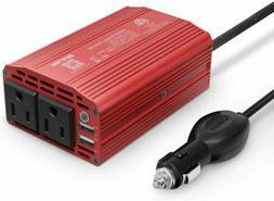 BESTEK 300W Dual DC 12V to 110V AC Outlets Power Inverter Ca