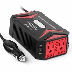 BESTEK 300W Pure Sine Wave Power Inverter DC 12V AC 110V 2 U