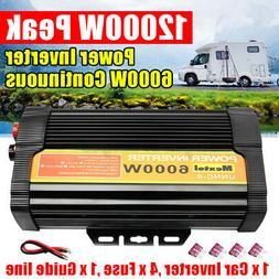 4000W 12000W Solar Power Inverter 12V to 110V Car Modified C