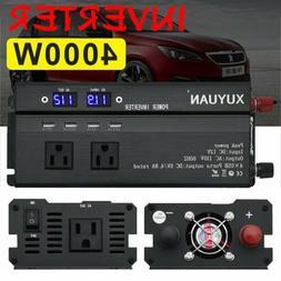 3000/4000/5000W Power Inverter Peak 12V To 110V 2 AC Outlets