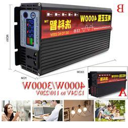 4000W Car Solar Pure Sine Wave Power Inverter 12/24 To AC110