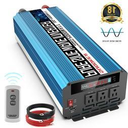 Power Inverter 2000W 4000W Pure Sine Wave DC 12V to AC 110V