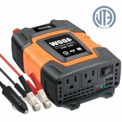 400W Power Inverter DC 12V to 110V AC Car Inverter with 3.1A