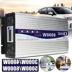 5000W 6000W LCD Car Solar Power Inverter DC 12V/24V To AC 11