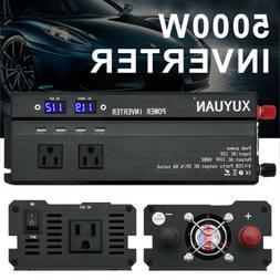 2000W - 5000W Vehicle Car LED Power Inverter Watt DC 12V to
