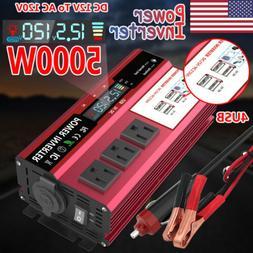 5000W Car Power Inverter DC 12V To AC 110V 120V Converter 4U