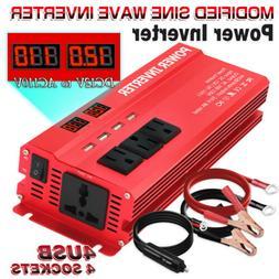 5000w Peak Car Vehicle Power Inverter Converter DC 12v to AC