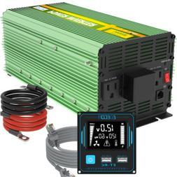 EDECOA 3000W 6000 12V dc to 110V 120V ac automotive Power In
