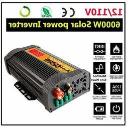 6000W 12000W Car Power Inverter DC 12V To AC 110V 2 Outlets