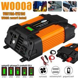 6000W Car Power Inverter 12V DC to 110V AC Power Sine Wave C