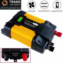 6000W Peak Car Power Inverter DC 12V To AC 110V 2 AC Outlets