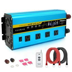 6000W Pure Sine Wave Power Inverter DC 12V to AC 120V with R