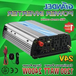 GIANDEL 1200Watt Power Inverter 24V DC to 110V 120VAC with S