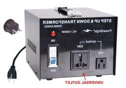 Power Bright VC1500W Voltage Transformer 1500 Watt Step Up/D