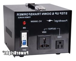 Power Bright VC3000W Voltage Transformer 3000 Watt Step Up/D
