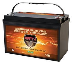 Vmaxtanks Vmaxslr125 AGM Deep Cycle 12v 125ah SLA rechargeab