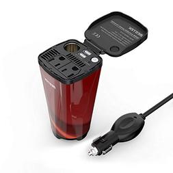 BESTEK 200W Car Power Inverter with 2 AC Outlets and 4.5A Du