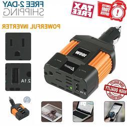 Car Power Inverter 150W DC 12V to AC 110V USB Converter Wall
