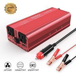 EBTOOLS Car Power Inverter, 1000W/2000W Inverter 12V DC to 1