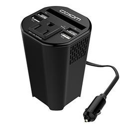 MoKo 150W Car Power Inverter, DC 12V to 110V AC Outlet Cup H