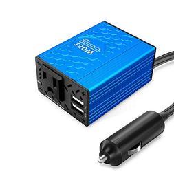 VOLTCUBE 150W Car Power Inverter 12V DC to 110V AC Converter
