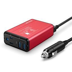 BESTEK 150W Car Power Inverter DC 12V to 110V AC Converter w