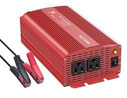 BESTEK 1000 Watt Car Power Inverter Dual AC Outlets 12V DC t