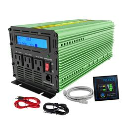 1500W 3000W Car Power Inverter Pure Sine Wave 12V dc to 110V