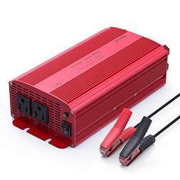 BESTEK 1000W Power Inverter Dual AC Outlets 12V DC to 110V A