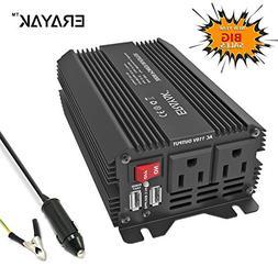 ERAYAK 300W Car Power Inverter Dual US Outlets,3.1A Dual USB